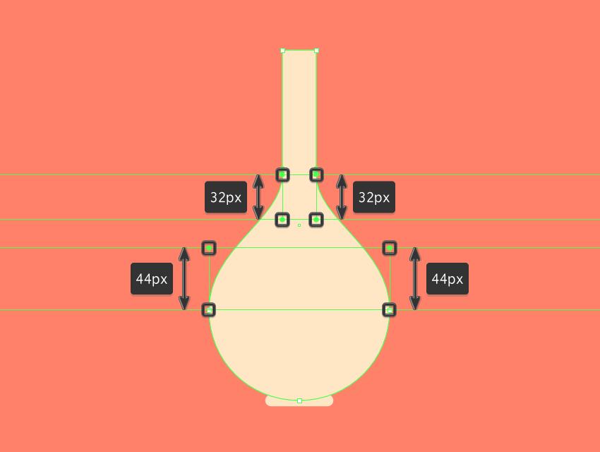 adjusting the shape of the center vase