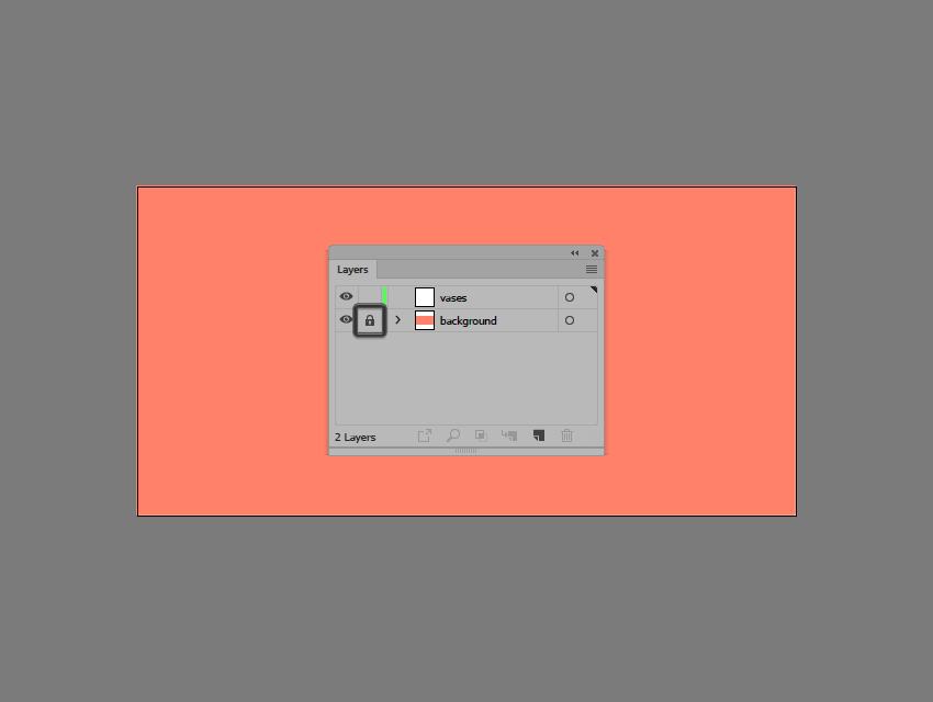 locking the background layer