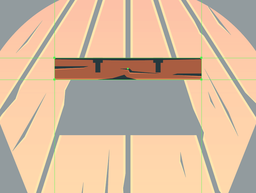 adding details to the top support beam