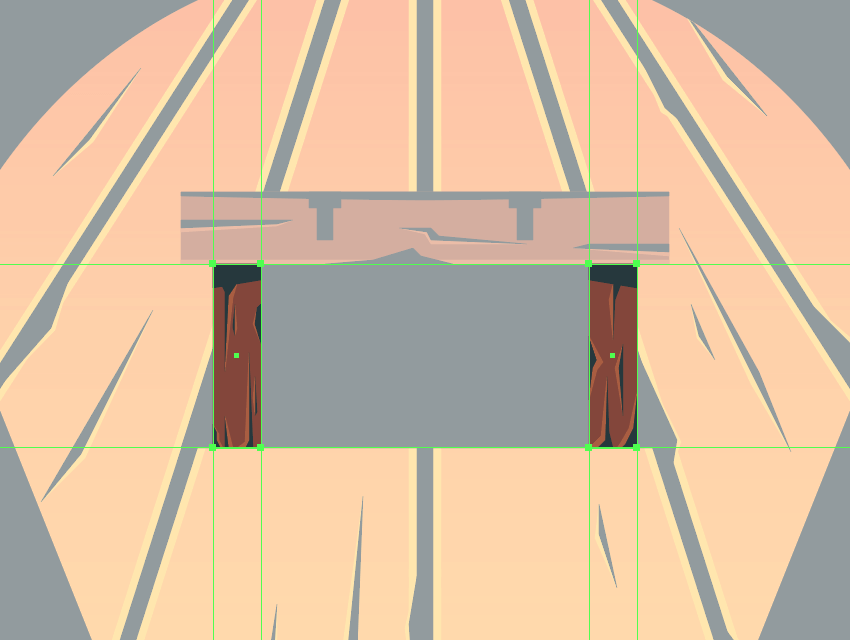 adding details to the vertical support beams