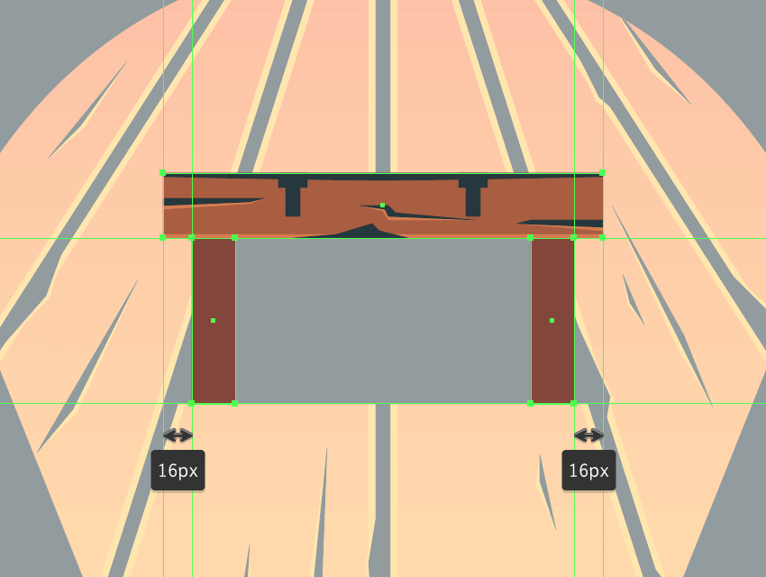 adding the side support beams