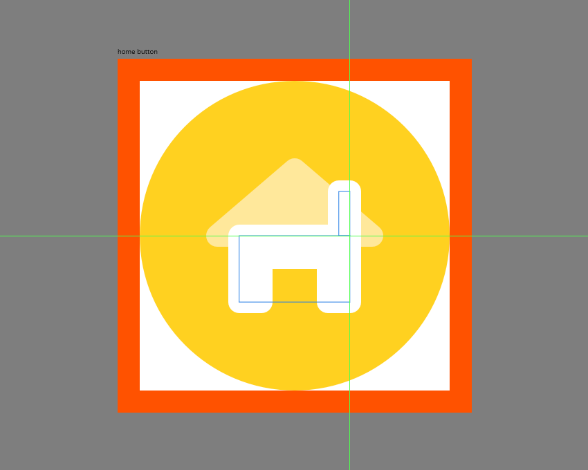 finishing off the home button icon