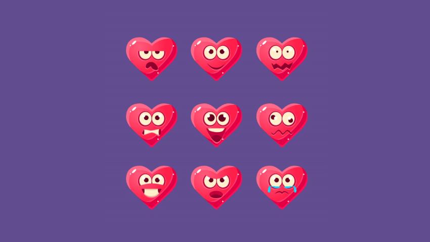 pink heart emoji icon pack