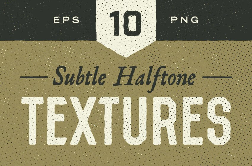 example of subtle halftone textures