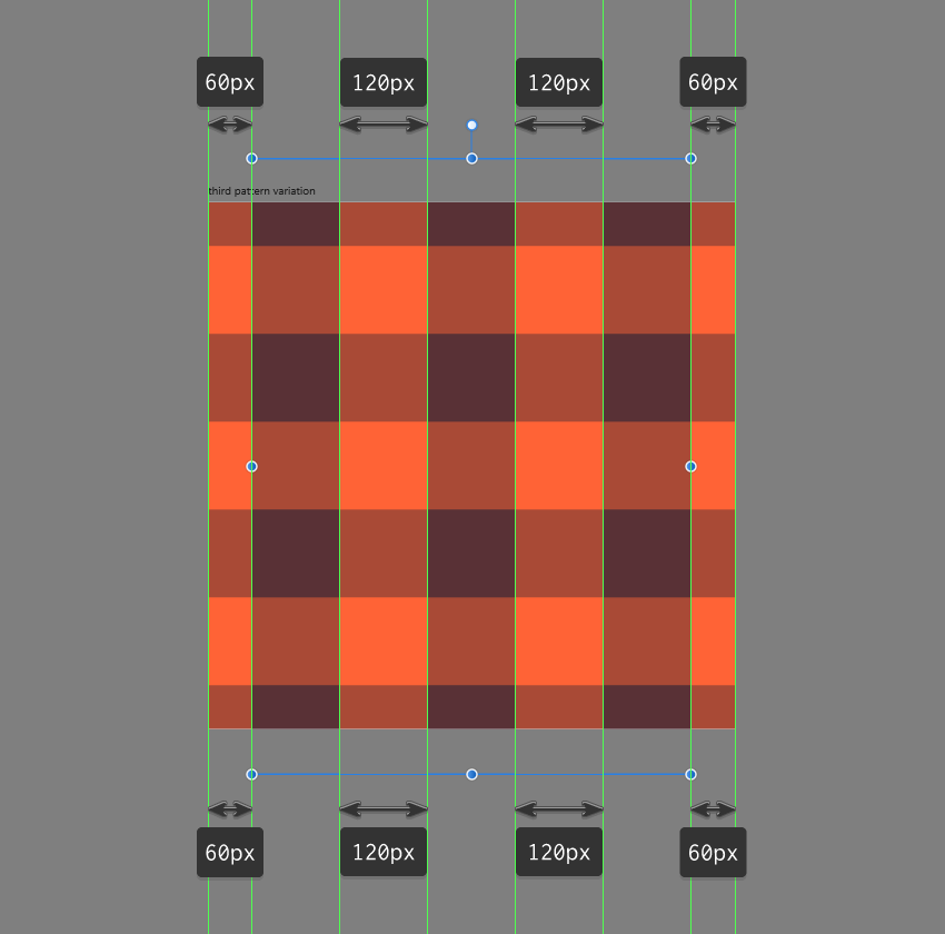 adding the columns to the third pattern