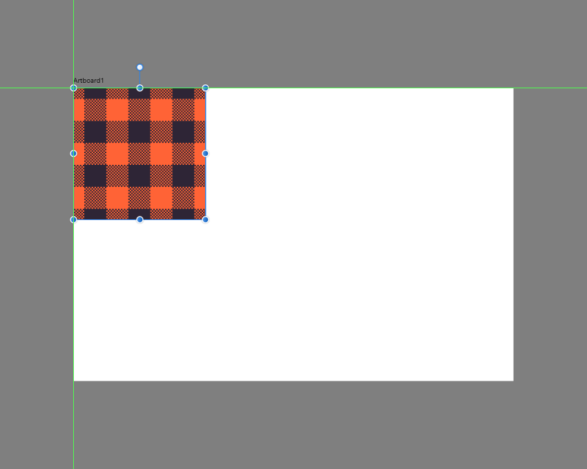 pasting a copy of the first pattern to the empty artboard