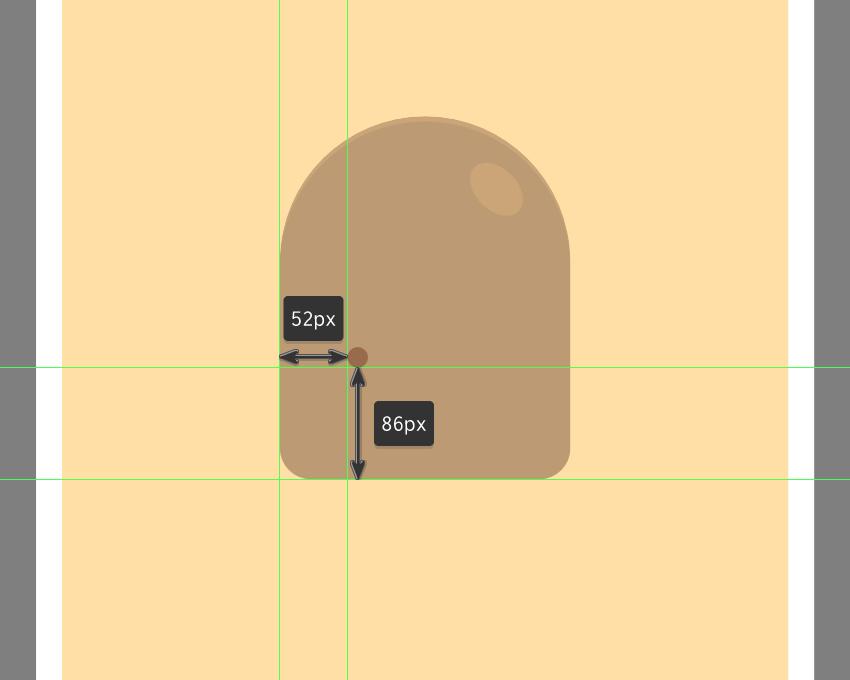 creating the main shape for the left eye
