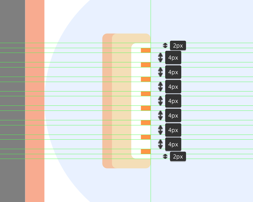 adding the interval lines to the ruler
