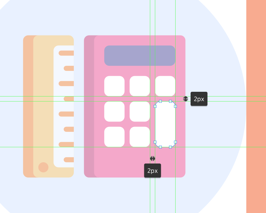 adding the larger calculator button