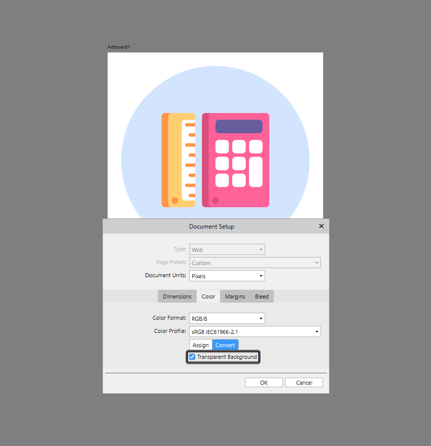 how to enable background transparency