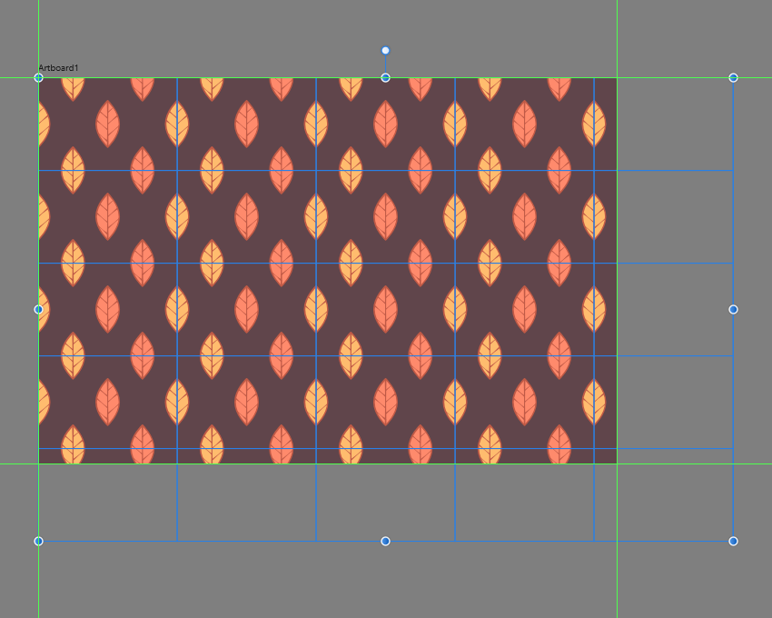 adding the remaining pattern segments to the empty artboard