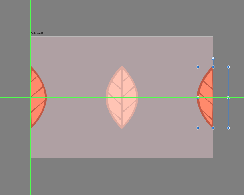 creating the side leaves