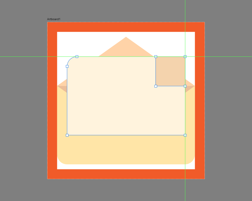 creating the main shape for the folded corner