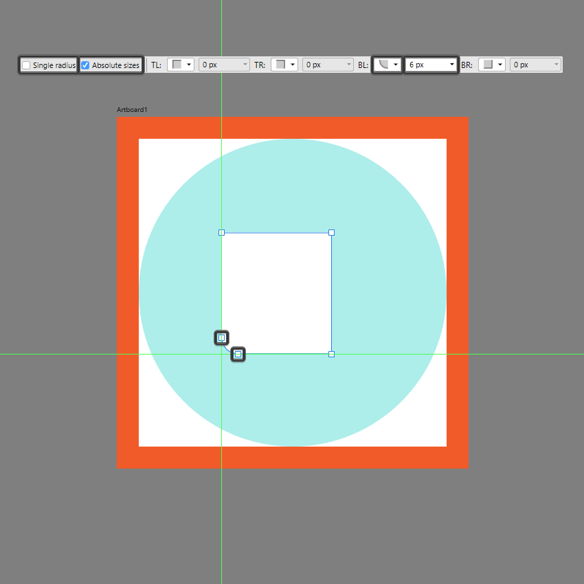 adjusting the corner of the front section in ad