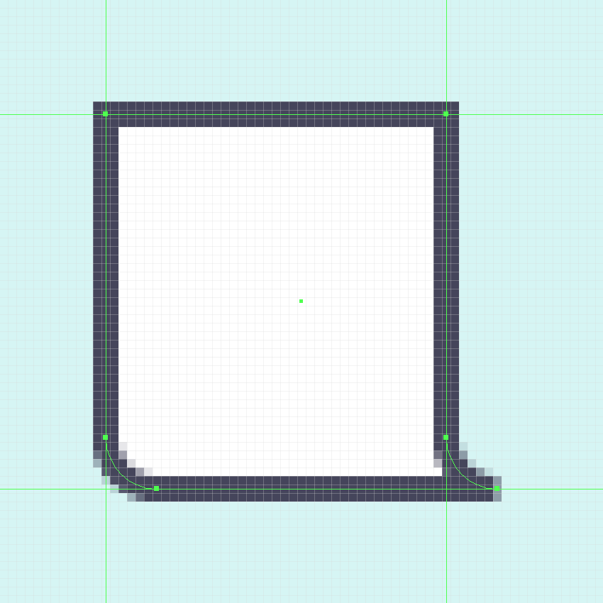 using the make pixel perfect option on odd strokes