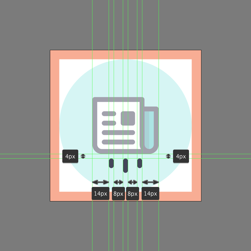 finishing off the icon in ai