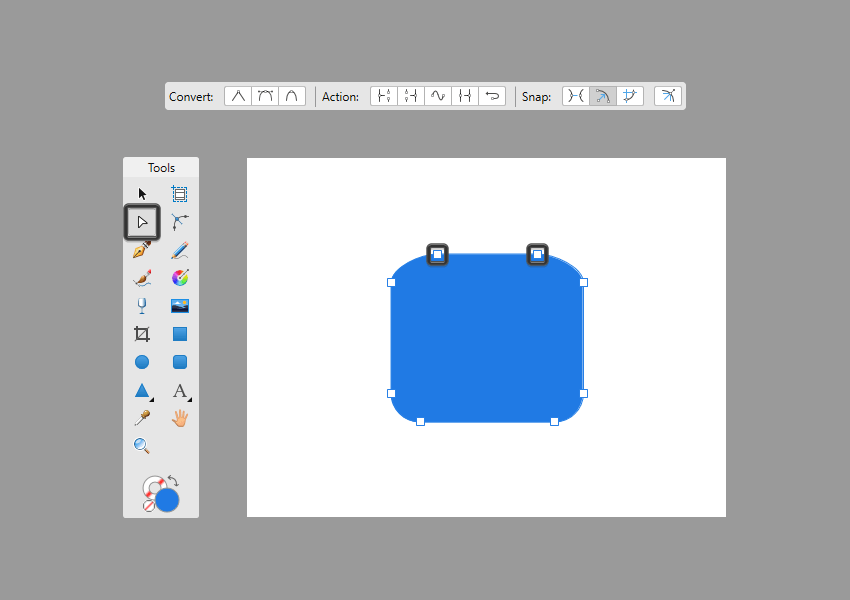 converting a rectangle to curves