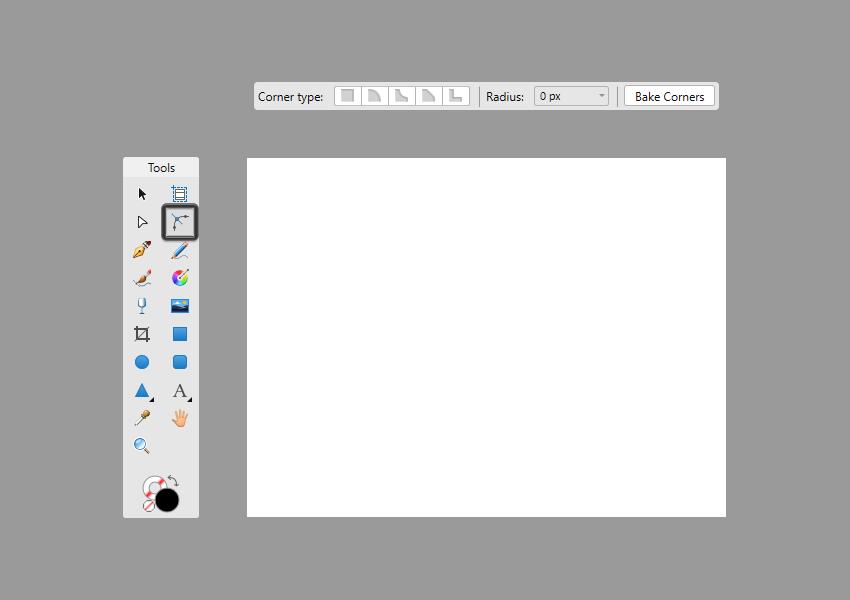 corner tool context toolbar example