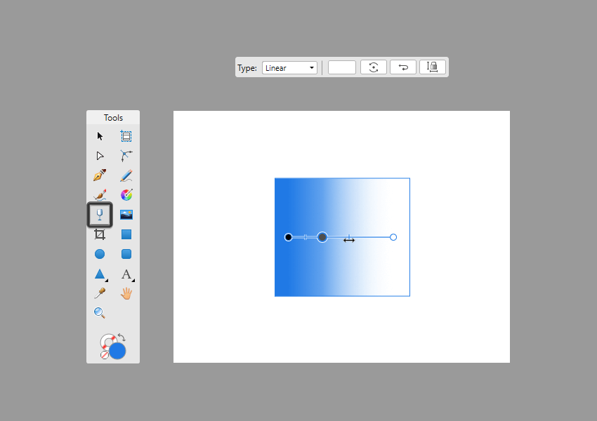 adjusting the mid point of a transparent gradient