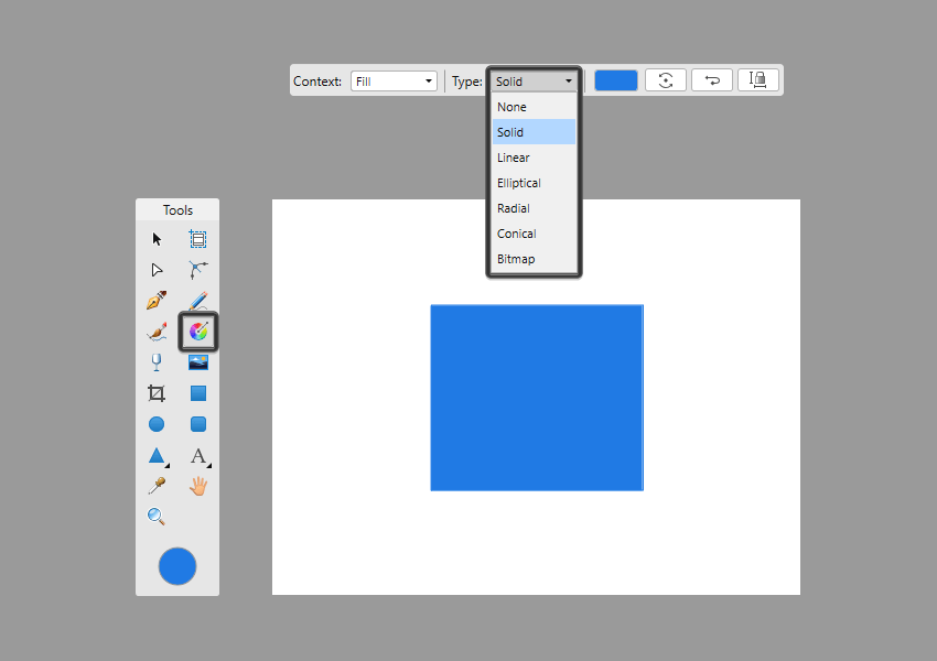 example of fill tool gradient type