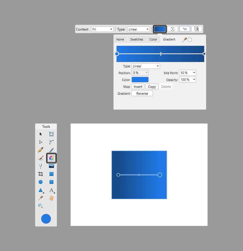 gradient panel example