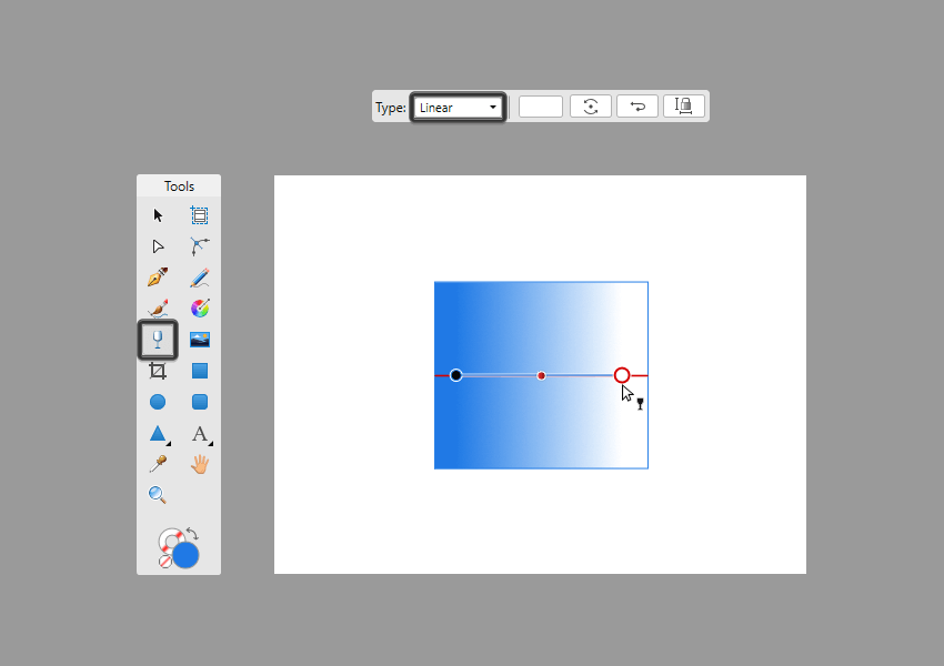 example of using the transparency tool