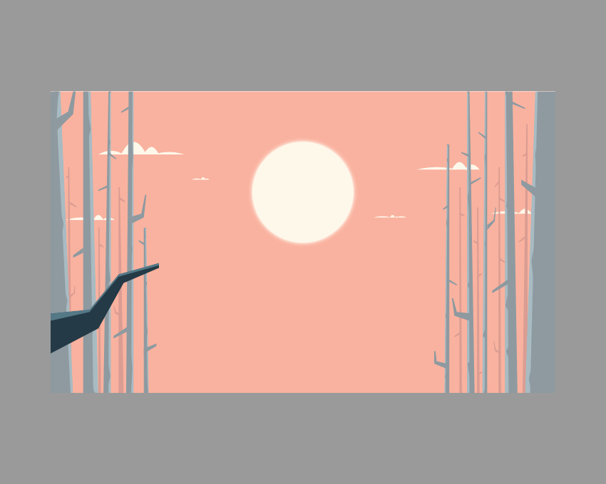 adding the darker section to the left branch