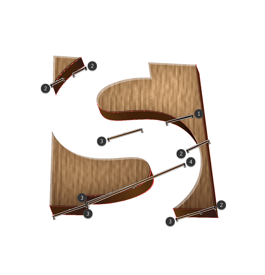 adding gradients to the letter s