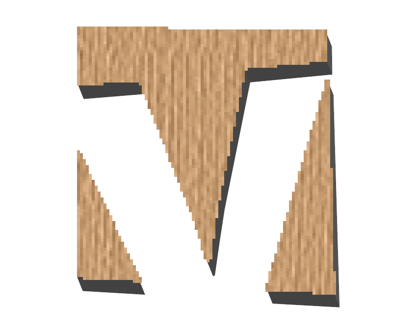 example of pixelated edges created by the texturizer effect
