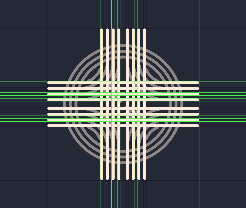 adding the horizontal and vertical lines to the smaller inner section