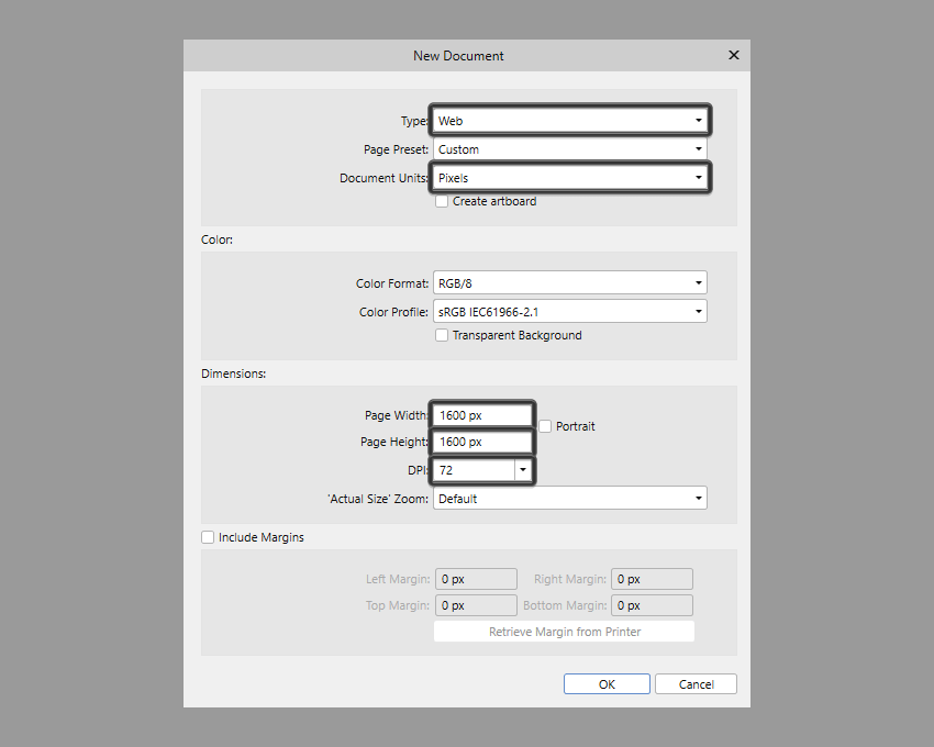 setting up a larger document