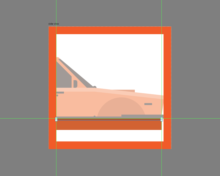 adding the subtle shadow to the lower body of the car