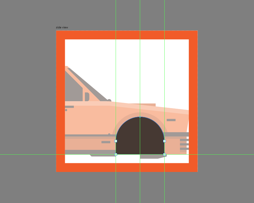 adding the wheel cutout