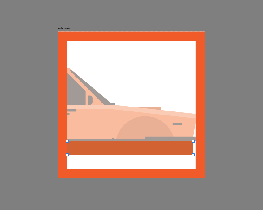 adding the bottom shape to the lower body of the car