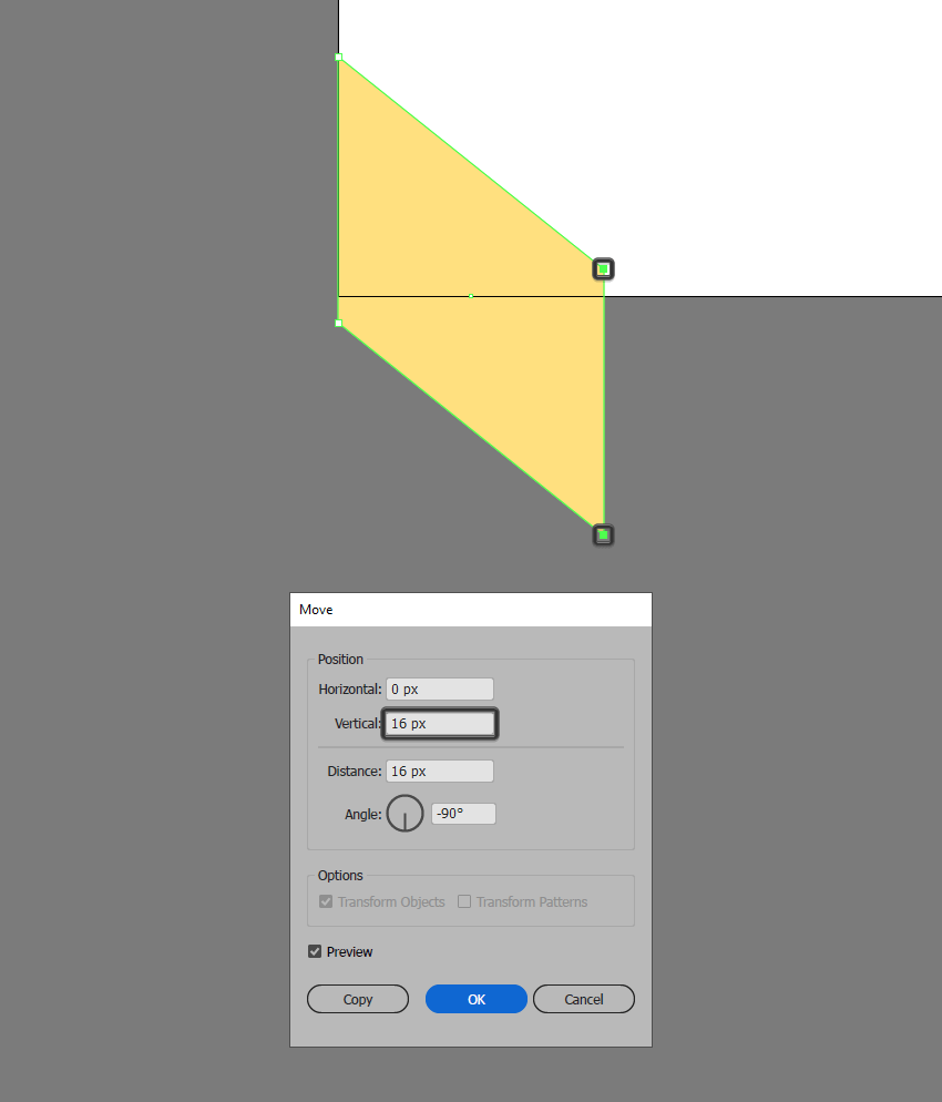 adjusting the repeating shape of the second pattern