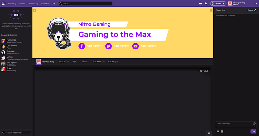 example of banner used within twitch