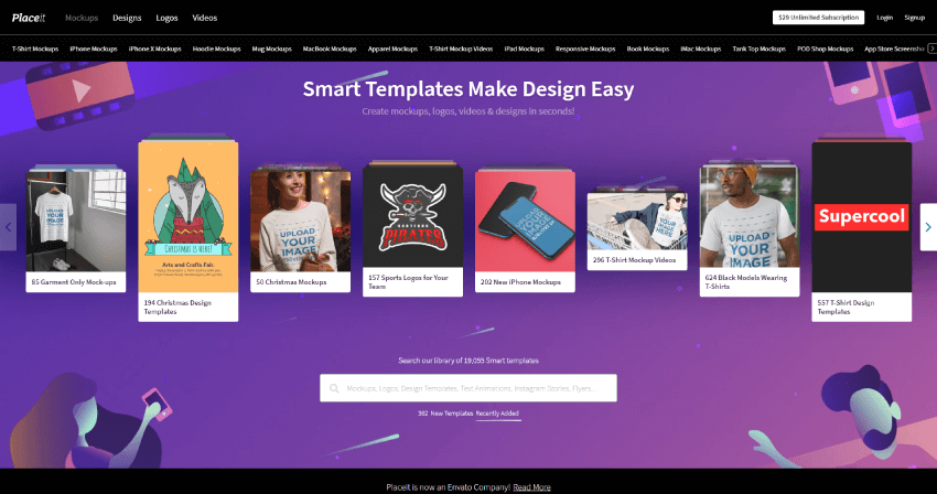 placeit website preview