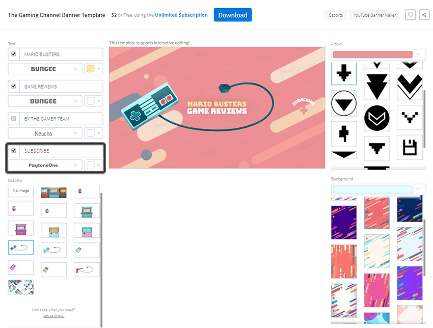 changing the font and color for the subscribe indicator