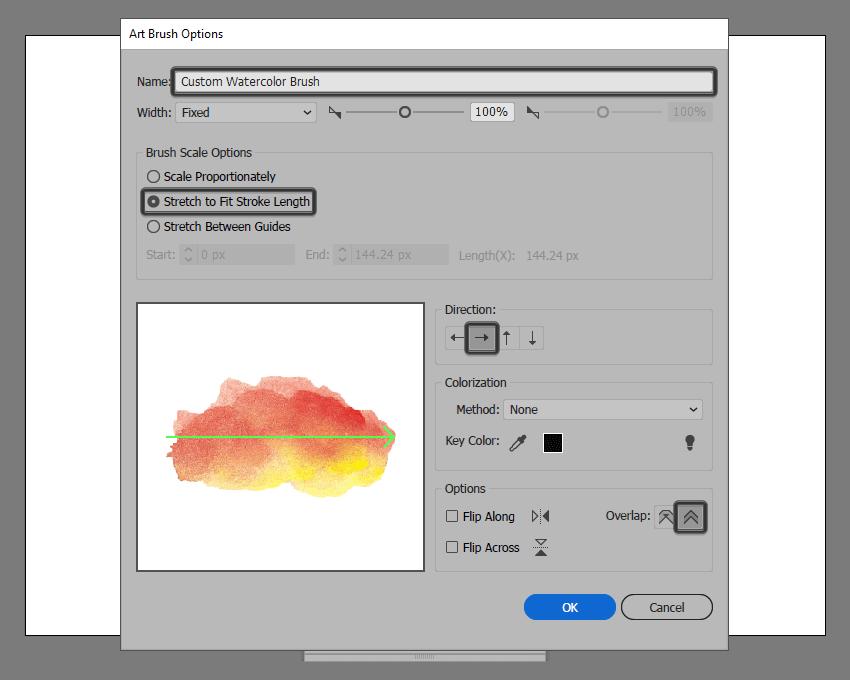 art brush options