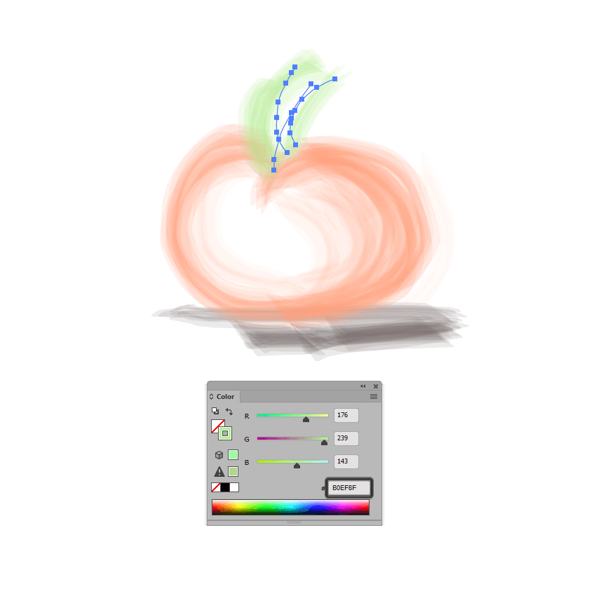 example of adjusting the color of the custom bristle brush