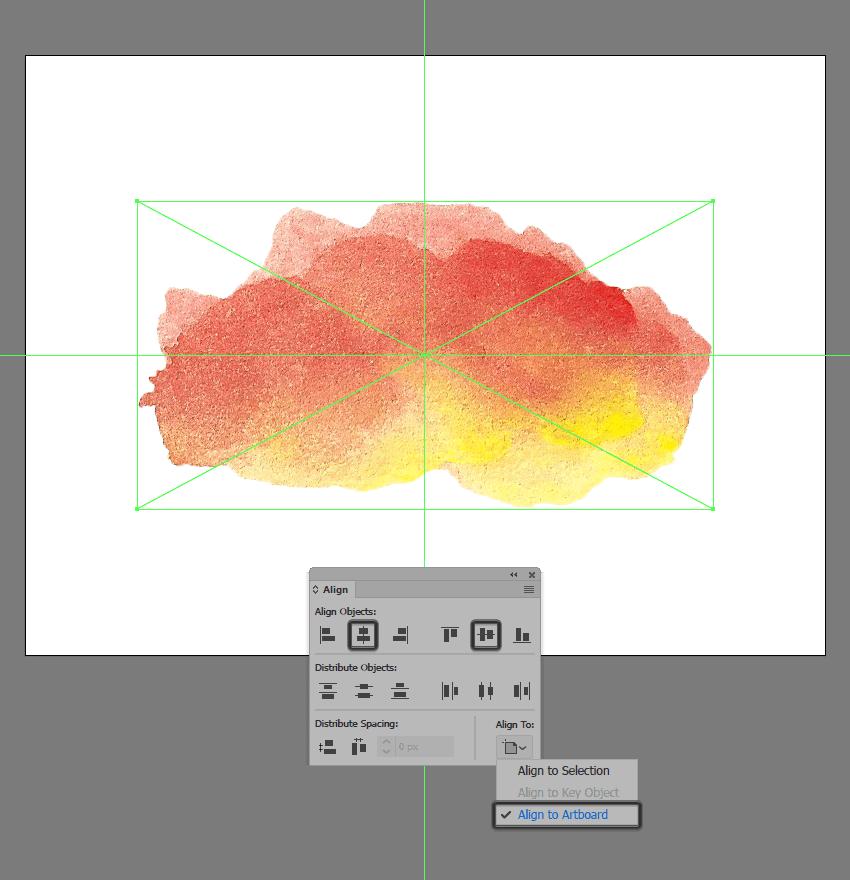 placing the scanned brush stroke inside of illustrator
