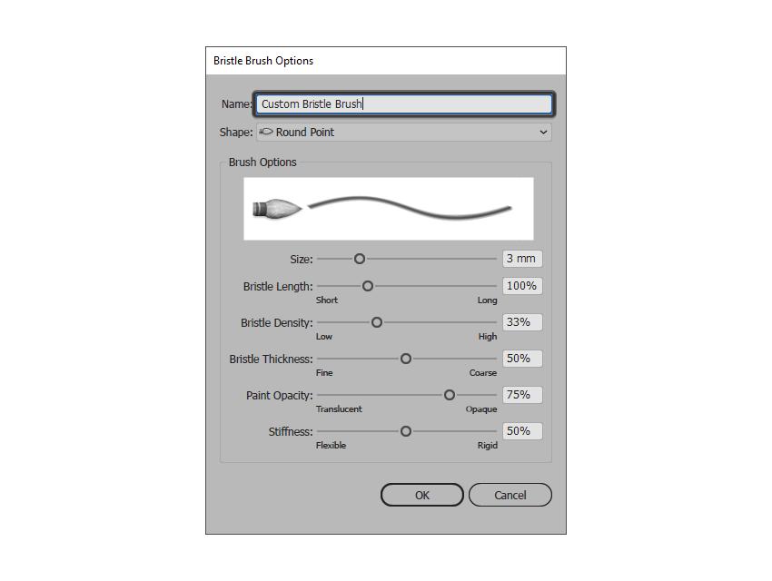 giving the custom bristle brush a name