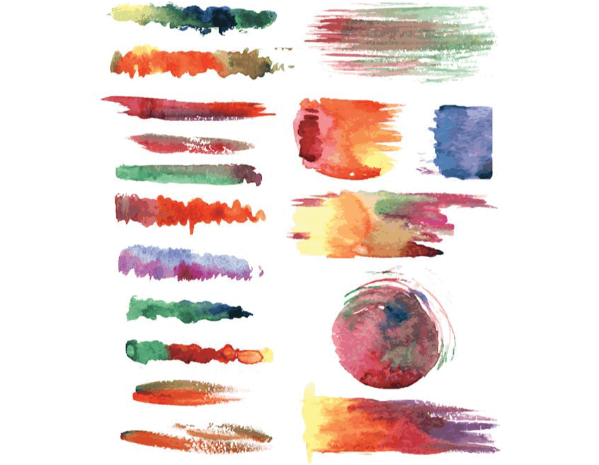 vector watercolor  brushes