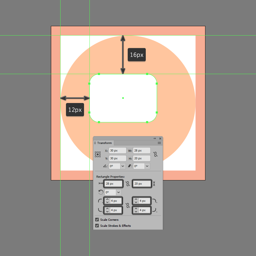 creating the main shape for the chat symbol