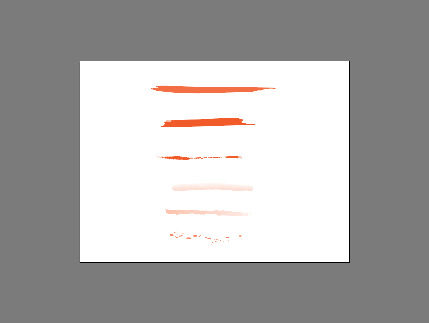 example of included illustrator brushes