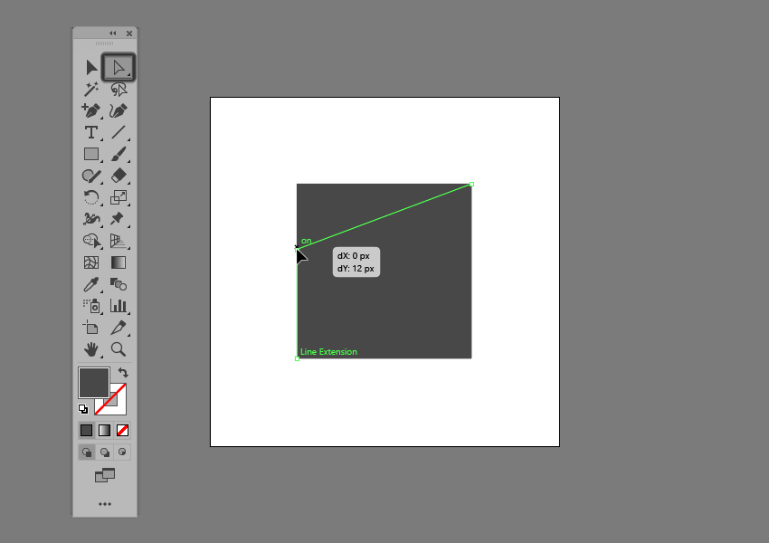 example of adjusting the position of an anchor in illustrator