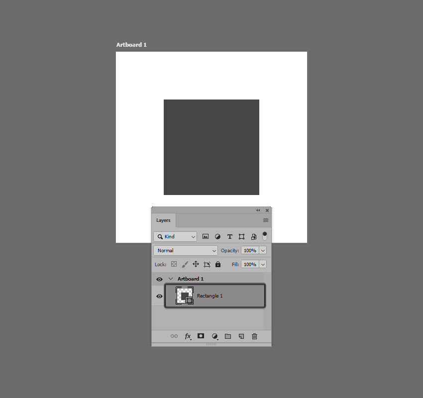 example of shape selection visible in the layers panel in photoshop