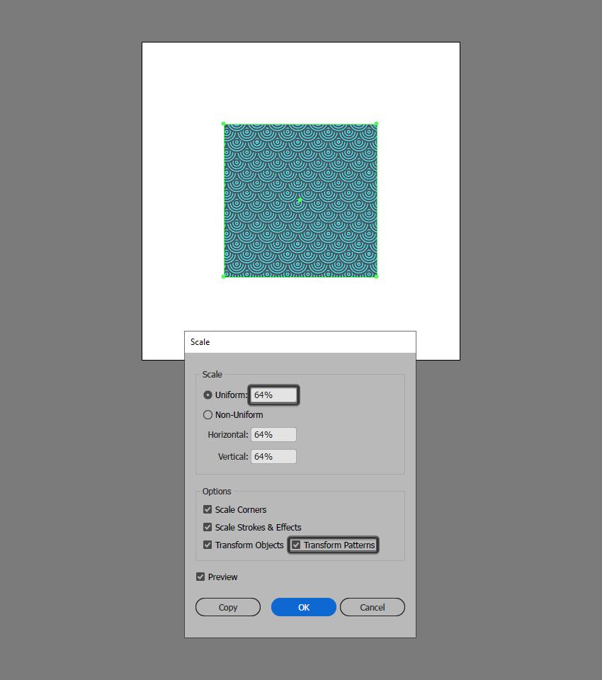 scale pattern illustrator