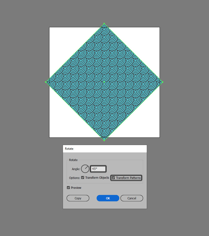 rotate pattern Illustrator
