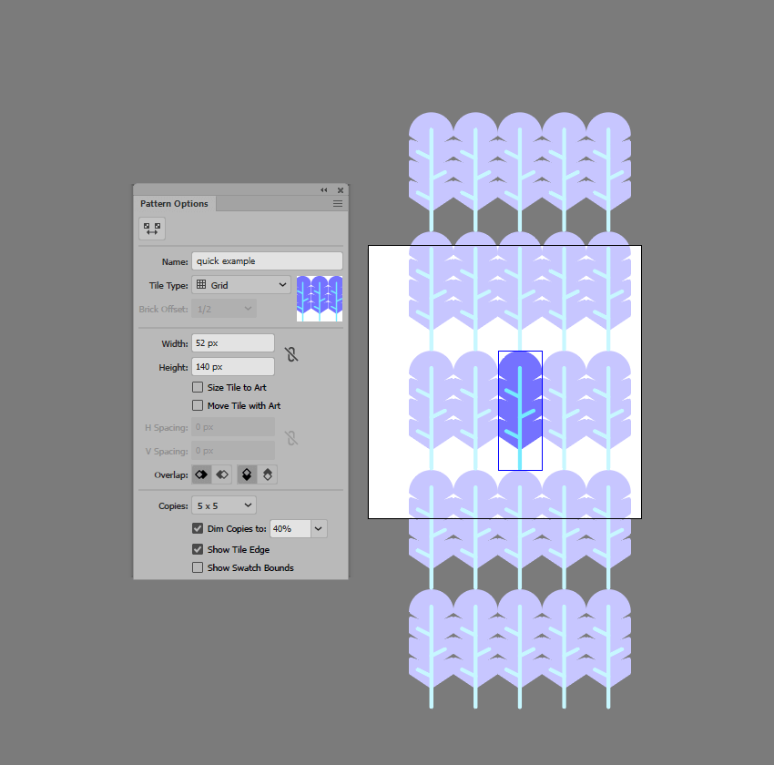pattern editing mode preview